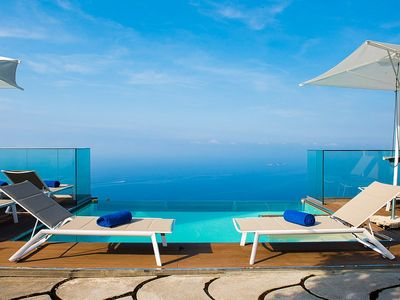 Photo for Villa Sultana: A splendid and luminous three-story villa situated on a promontory facing the sea, with Free WI-FI.