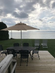Photo for Lakefront Living at Its Best - Private Sand Beach Close to Northport Village