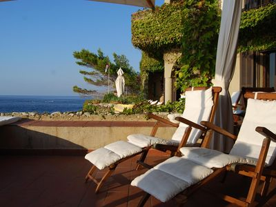 Photo for Villa on the cliff with private access to the sea of ​​Scilla