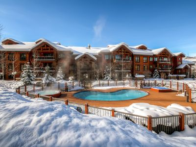 Photo for Spacious condo w/ resort style amenities & winter shuttle