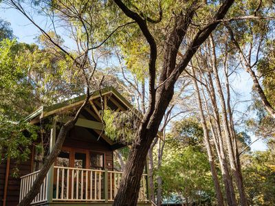 Photo for Cozy Studio Chalet perfect for couples and a veranda overlooking the bushland