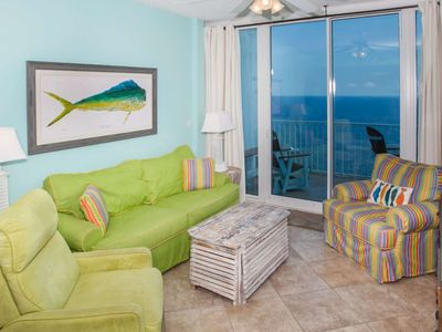 Photo for Gulf-Front 2/2, Slps 8, Blcny, Jetted Tub, Pool/Hot Tub/Fit Ctr, Free Activities - Lighthouse 1614