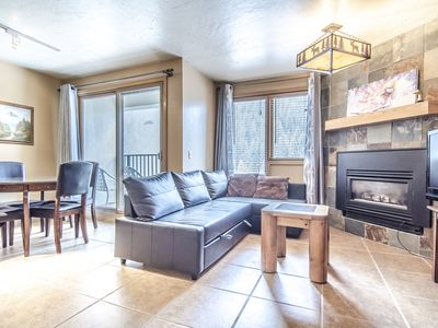 Photo for Beautifully updated ski in ski out  1 bed/1 bath Sleeps 6 Iron Horse Resort