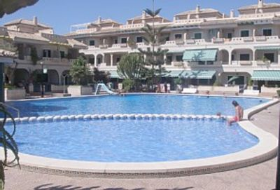 Photo for Ground floor 2 bed apartment, large communal pool, 5 mins to beach
