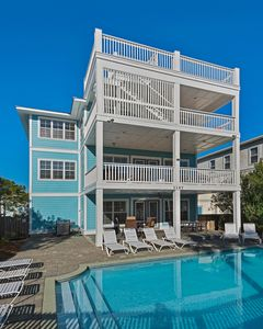 Photo for Stunning Luxury Home - Large Private Pool+Golf Cart! Across from Beach. Dogs OK
