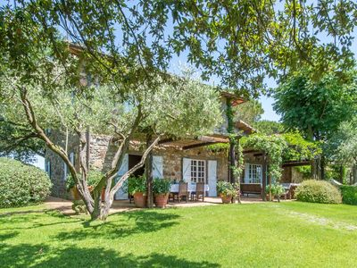 Photo for Tuscany: XVIII  century Villa, with swimming-pool and private park, sea view