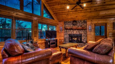 Photo for Hilltop Hideaway- Screened Porches | Large Hot Tub | All Inclusive Game Room | Close to town