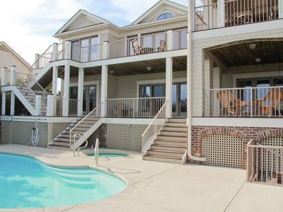 Photo for Luxurious home with panoramic ocean views, elevator, and private pool & hot tub!