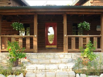 Photo for Rancho De Los Arboles - aLovely Country Log Home