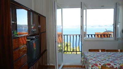 Photo for Two bedroom apartment with balcony and sea view Marušići, Omiš (A-657-a)