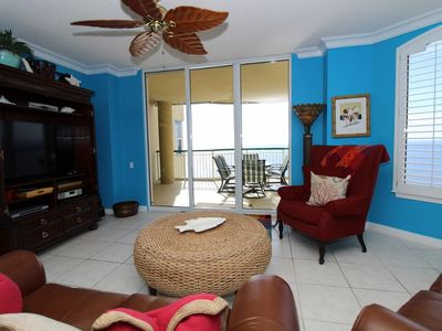 Photo for Beach Colony East 11C-Beach Front unit with large terrace & amazing view!