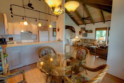 Easy access to the kitchen from the dining room and living room.