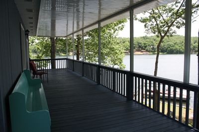 upstairs deck with great view