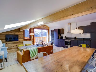 Photo for Superb 4 rooms duplex apartment in the center of Châtel