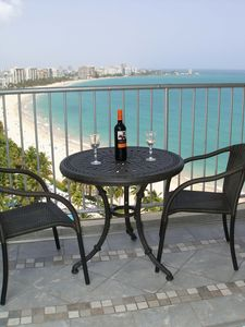 Photo for Amazing  Blue Ocean View- Isla Verde Beach Front, WIFI, Free Parking