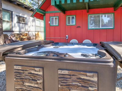 Photo for Dog-friendly mountain home w/ a private hot tub & outdoor pool table