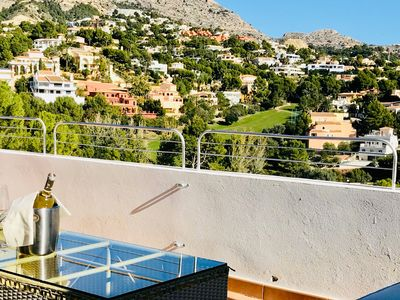 Photo for Top Floor Apartment with Golf Course Views - Altea