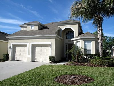 Photo for South Facing Lux 5bd/5ba Pool Home W/spa & Private View 2mi To Disney! Free Wifi