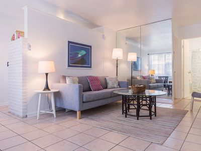 Photo for Modern beach chic boutique apartment with a touch of old school Florida.