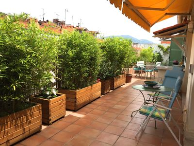 Photo for Splendid 150m2 Penthouse Apartment 50m2 - Two steps from the sea