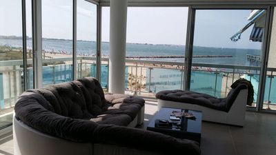 Photo for Splendid 115m2 apartment 1st line sea view