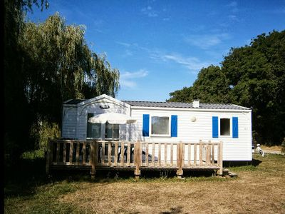 Photo for Camping Les 3 Chênes ** - Mobilhome 6 people - 4/6 people (between 0 and 5 years old)