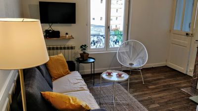 Photo for Cozy apartment renovated to less than 10 minutes walk from the station!