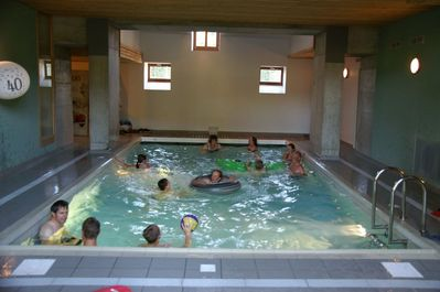 French holiday cottage with indoor heated swimming pool. Perfect for families.