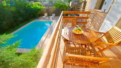 Photo for Fabulous property in the center of Sóller with terrace and pool. Wi-Fi & parking