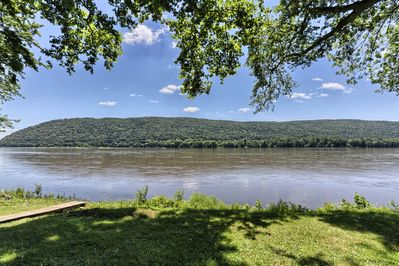 Beautiful views of the Susquehanna River from the huge wrap around deck.