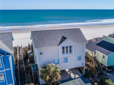Photo for TWIN PALMS: 4 BR / 3 BA oceanfront in Topsail Beach, Sleeps 8