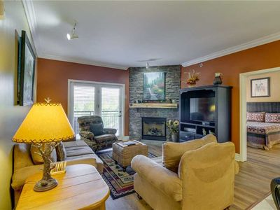 Photo for Baskins Creek 409 Luxury Condo | Walk to Downtown Gatlinburg! | WiFi | Fitness Room & Seasonal Pool