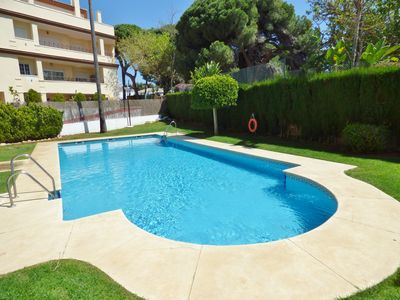 Photo for Luxurious duplex  200 meters from the beach.  Free WiFi, private terrace & BBQ