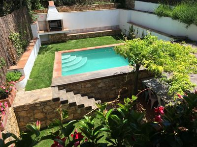 Photo for Quiet restored village house with pool and high speed Wifi