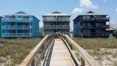 This is my condo in the middle.  A shot from the beach
