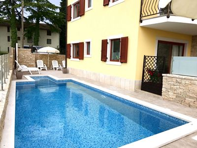 Photo for Apartment Elia2 villa in Savudrija, with garden pool, barbecue, parking