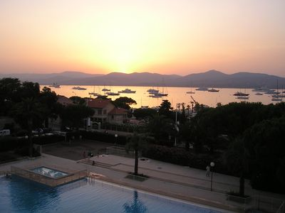 Photo for Center St Tropez, exceptional sea view, swimming pool 35m, duplex terrace, parking