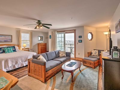 Photo for Oceanfront Lincolnville Studio w/ Private Balcony!