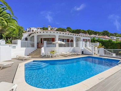 Photo for Can Caules - villa with private pool, Wi-FI & A/C - very close to shops & beach!
