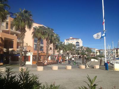 Photo for Charming Apartment In Port Argéles, 3 minutes beach, private terraces, WIFI.