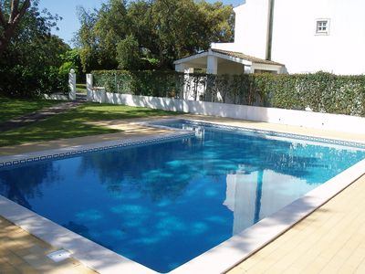 Photo for Villa In Olhos De Agua, Albufeira, Portugal With Shared Salt Water Pool And Private Garden