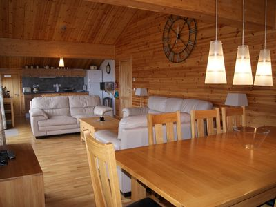 Photo for Penthouse chalet apartment, sleeps 8, Sky TV, internet and garage beautiful view