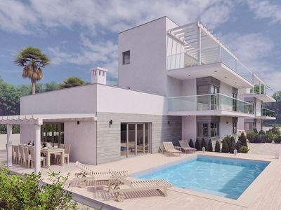 Photo for Villa Sole, private swimming pool, 6 bedrooms, wellness penthouse with sea views