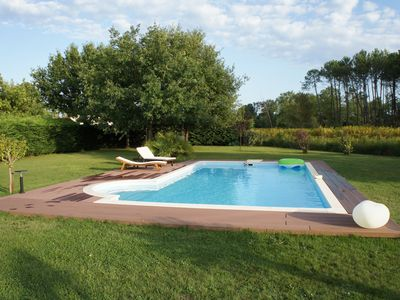 Photo for Sanguinet villa any comfort with 200m lake pool near ocean