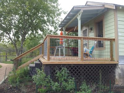 side view of front deck