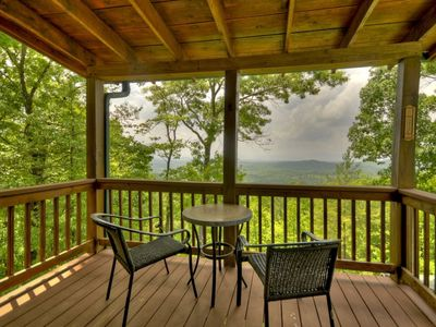 Photo for Charming Cabin Nestled in the Woods and Graced with a Breathtaking Mountain View