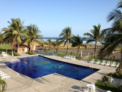 VIEW OF POOL & BEACH FROM CONDO 505