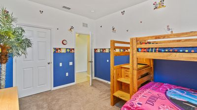 Kid's room has a spacious walk in closet as well!