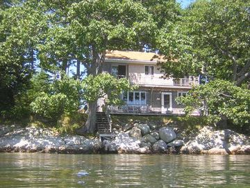 Last House on Point in Casco Bay