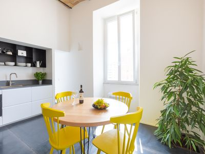 Photo for New design apartment at the Colosseum with WiFi. Proximity to metro stops B and A